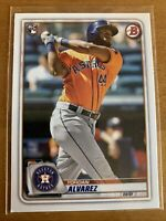 2020 Bowman #25 Yordan Alvarez Rookie Card Houston Astros RC