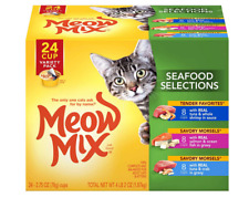 New listing Meow Mix Seafood Selections Variety Pack, 2.75 oz cups, 24 Count , New, Free Shi