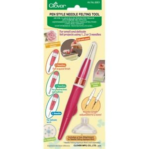Clover Pen Style Needle Felting Tool - Use 1, 2 or 3 Needles - For Fine Projects