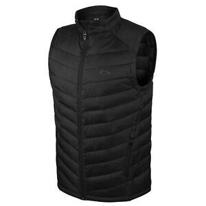 Oakley Mens Vic Vest Padded Zip Up Gilet Black 412392AU 01K