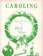 Sheet Music Christmas1960 Caroling Words & Music By John Valenti