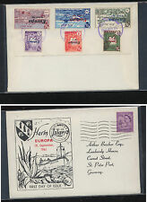 Great Britain  Herm Island Europa overprint  1961  cover          MS1112