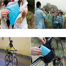 5X Disposable Plastic Raincoat Emergency Rain Waterproof Camping Hiking Clothes