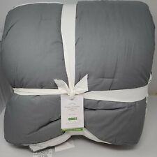 Pottery Barn Bergen Reversible Twin Comforter Flagstone Gray *Sample*