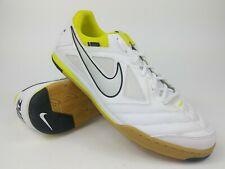 Nike Mens Rare Nike5 Gato 415122-107 White yellow Indoor Soccer Shoes Size 13