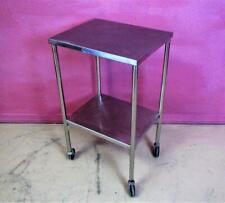 Pedigo Procedure Medical Instrument Mobile Utility Cart Stand Back Table 20x16
