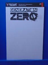 Generation Zero #1 Blank Variant Edition Valiant Comics CB11973