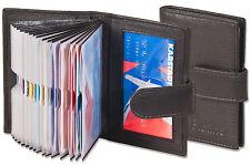 PLATINO étui pour cartes de crédit en noir avec Renforcé Fan de fin cuir