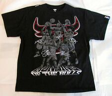 CHICAGO BULLS RUNNING OF THE BULLS BLACK/GRAY/RED D ROSE S/S TEE T-SHIRT MENS L