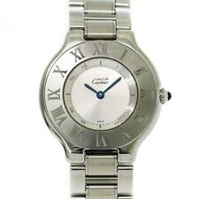 Cartier Must 21 W10110T2 Quartz Silver Dial Mens Wrist Watch 90102910