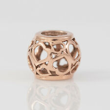 10ct Rose Gold Emma & Roe Hearts Charm By Michael Hill