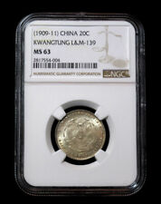 1909-11 China Silver Coin 20c NGC MS 63