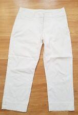 IZOD G Flex Capri Women's Size 8 White Flat Front Cropped Pants Chino P202
