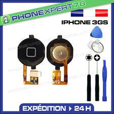 BOUTON HOME COMPLET AVEC NAPPE POUR IPHONE 3G / 3GS NOIR + OUTILS + NOTICE