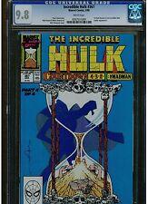 INCREDIBLE HULK #367 CGC 9.8 MINT WHITE PAGES 1ST DALE KEOWN WORK ON HULK 1990