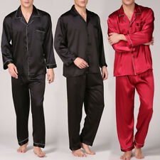 ab5d6c03b8 New Mens Silk Satin Pajamas Pyjamas Sleepwear Set Lounge Wear L XL XXL 3XL  Plus