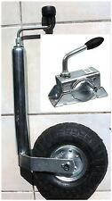Luftreifen Stützrad luftbereift für PKW Wohnwagen Anhänger Bugrad + Halter NEU