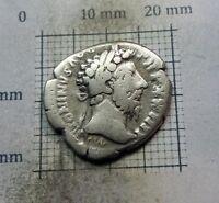 Original Antique Coin SILVER MARCUS AURELIUS ROMAN DENARIUS 161-180 A.D# 0664