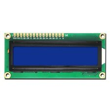 LCD DISPLAY RETROILLUMINATO Character 1x16 set HD44780 WHITE ON BLUE (QTY: 2PZ)