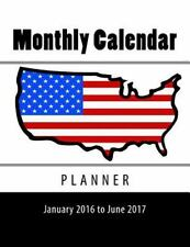 Blank Books by Cover Creations: Monthly Calendar Planner : January 2016 to...