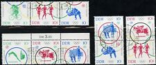 355)DDR Mi.-Nr. 1039-44 O, 4 Zd Olymp. Spiele 1964 mit Tagesstempel entwertet