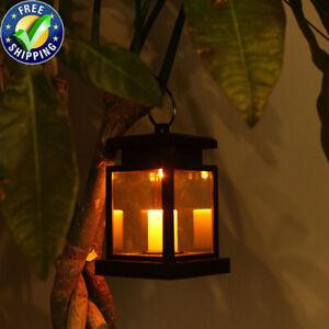 Solar LED Hanging Lantern Lights Garden Path Yard Lamp Decor Waterproof Outdoor