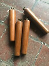 A Set Of 4 Teak Furniture Legs 18cm Danish Retro Style