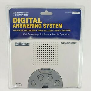 Digital Answering Machine System Tapeless Recording Conair Phone Call Keeper NEW