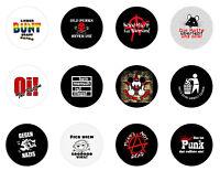 Wähle aus 12 Button 25mm - Punk Anarchie Antifa Oi Skinhead