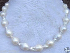 "AAA+ Rare Huge 15-25MM WHITE SOUTH SEA BAROQUE PEARL NECKLACE 18"" Y01"