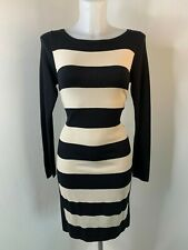 COAST • Black and Cream Stretch Jumper Dress • Size 10