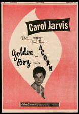 1957 Carol Jarvis photo Golden Boy record release vintage trade print ad