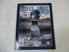 Ben Roethlisberger Steelers Autographed 2009 Super Bowl XLIII Program (42)