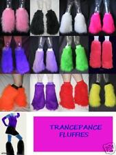 READY MADE FLUFFY LEGWARMERS FURRY BOOT COVERS NEON