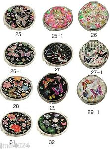 MOP Makeup Cosmetic Handbag Vanity Compact handheld mirror 12 butterfly patterns