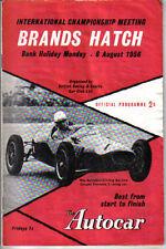 Brands Hatch INTERNAZIONALE CAMPIONATO AGOSTO 1956 ORIGINALE PROGRAMMA UFFICIALE