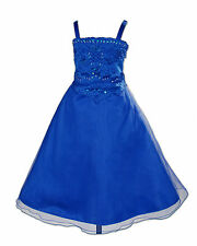 New Dark Blue Bridesmaid Party Flower Girl Dress 10-11 Years