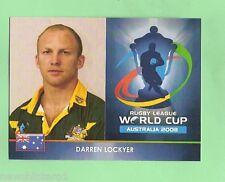 #D85. 2008 WORLD CUP RUGBY LEAGUE CARD - DARREN LOCKYER, KANGAROOS &  BRONCOS