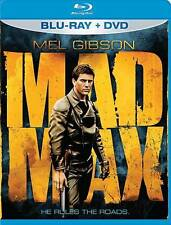 MAD MAX BLU RAY & DVD MOVIE COMBO PACK 2 DISC SET MEL GIBSON CLASSIC FREE SHIP