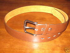 BELT  REMOVABLE BUCKLE WIDE BROWN JEANS SIZE 34-36""