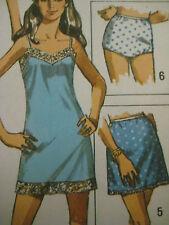 Vintage Simplicity 8750 PANTIES SLIP BRA LINGERIE Sewing Pattern Women UNCUT Sz6