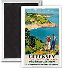 Guernesey soleil Île ( ancienne Rail Ad Aimant de réfrigérateur (SE)