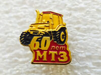 Vintage pinback pin badge 60th anniversary of the Minsk Tractor Plant,MTZ,USSR
