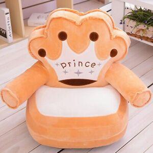 Baby Cushion Cartoon Crown Seat Sofa Chair Toddler Nest Puff Seat Case Bean Bag