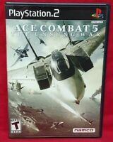 Ace Combat 5 Unsung War  PS2 Playstation 2 Game 1 Owner NEAR Mint Disc Complete