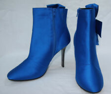 Marks & Spencer UK Size 8 Eur 42 Blue Stiletto Heel Ankle Boots