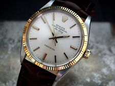 Beautiful 1979 Steel & Gold Rolex Oyster Airking Precision Gents Vintage Watch