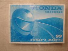 Honda OEM 1999 CBR900RR Owners Manual 31MAS630