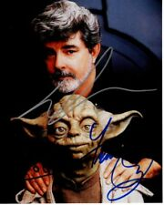 GEORGE LUCAS & FRANK OZ signed autographed STAR WARS YODA photo
