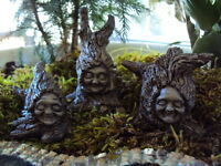 "MINIATURE GARDEN ""SET OF 3 TREE SPRITES"" NEW (HOBBIT, GNOME, FAIRY, ELF)"